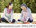 가족, 노인, 여자 36922872