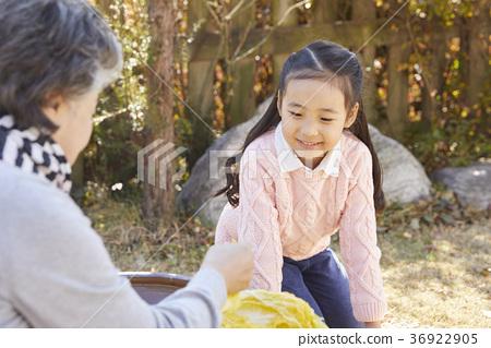 女孩,祖母,白菜,泡菜 36922905