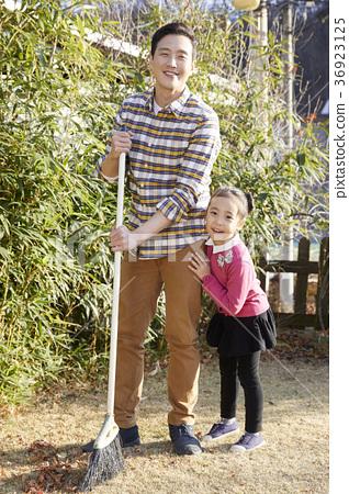 아빠,딸,가족,시골,한국 36923125