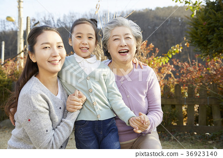 할머니,엄마,손녀,딸,한국인 36923140