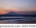 해안, 바닷가, 후지산 36924488