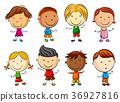 Happy kid cartoon 36927816