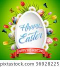 Easter eggs background 36928225