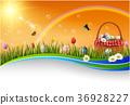 Easter eggs background 36928227