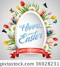 Easter eggs background 36928231