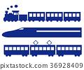 실루엣, 철도, 차량 36928409