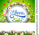 Easter eggs background 36928990
