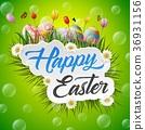 Easter eggs background 36931156