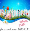 装饰的 复活节 鸡蛋 36931171