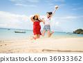 在冲绳旅行的妇女 36933362