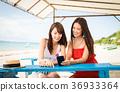 在冲绳旅行的妇女 36933364