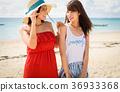 在沖繩旅行的婦女 36933368