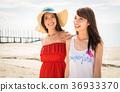 在沖繩旅行的婦女 36933370