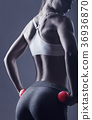 buttock, workout, woman 36936870