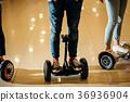 Dual Wheel Self Balancing Electric Skateboard 36936904