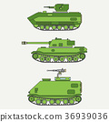 Line flat color vector icon set infantry assault 36939036