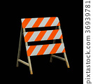 Road closed sign and traffic 36939781