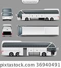 vector bus mockup 36940491