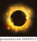 Eclipse on bright glossy star 36940517