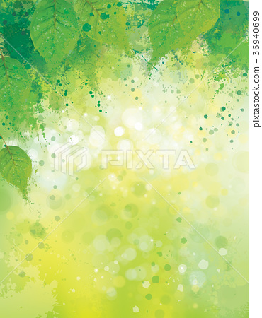 Vector Abstract Green Leaves Nature Background Stock