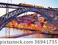 Tram on, tram bridge. Porto, Portugal 36941735