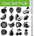 Icon Set Fruit 36942543