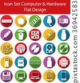 icon computer flat 36942583