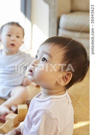 嬰兒,男人,朋友,兄弟,韓國人 36943623