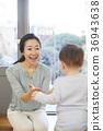 母親,兒子,嬰兒,生活,住房,韓國 36943638