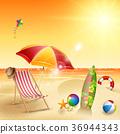 Beautiful summer beach 36944343