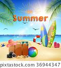 Beautiful summer beach 36944347