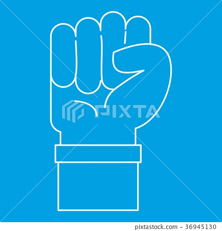Fist icon, outline style 36945130