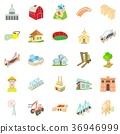 Facility icons set, cartoon style 36946999