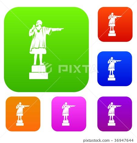 Columbus monument set collection 36947644