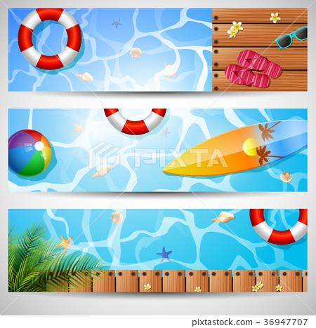 Set of three summer beach 36947707