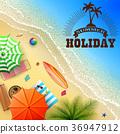 Summer beach background 36947912