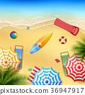 모래, 해변, 아름다운 36947917