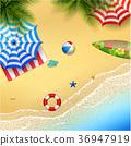 모래, 해변, 아름다운 36947919
