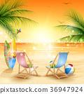 Tropical beach background 36947924