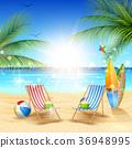 모래, 벡터, 해변 36948995