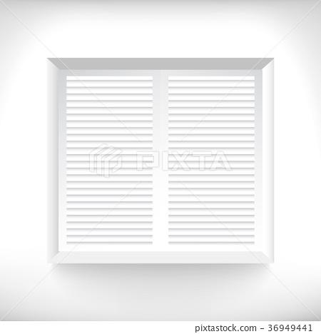 white windows with jalousie 36949441