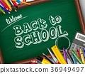 Cartoon school and office supplies 36949497