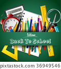 Back to school. School and office supplies 36949546