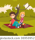 picnic, young, sitting 36950952