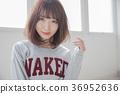 스트레이트 보브 스타일 여성 36952636