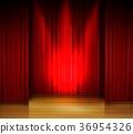 階段 舞台 窗簾 36954326