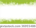 배경 소재, 흐림 효과, 소프트 포커스, 눈송이, 수빙, 겨울 풍경, 복사 공간. 흰색, 윤곽선 제목 36955486