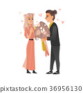 vector, couple, love 36956130