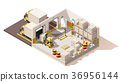 Vector isometric low poly warehouse 36956144