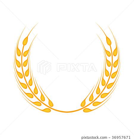 Gold Laurel Wreath A Symbol Of The Winner Stock Illustration